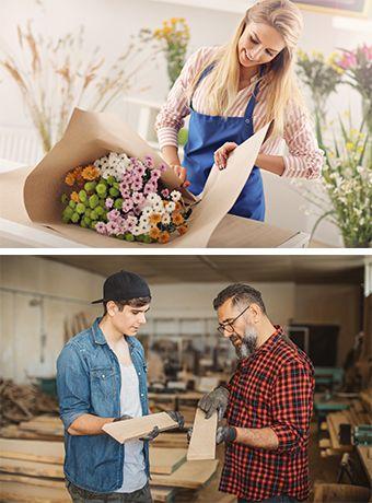 Bewerbe der Floristen & Tischler