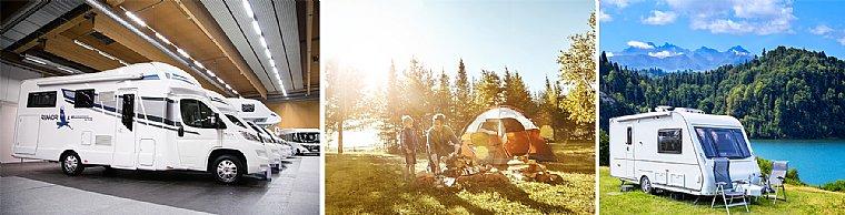"""<font color=""""#0075BB"""">Camping & Caravaning""""</font>"""