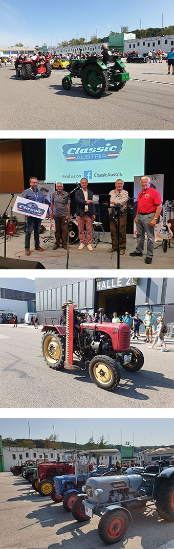 Traktoren auf der Classic Austria