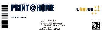 Werbung auf den Print@Home Tickets