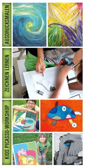 "<font color=""#a14986"">Ausdrucksmalen / Seelenmalen • Kids Picasso-Workshop</font>"