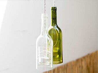 """<font color=""""#a14986"""">Glasflaschen Upcycling - Windlicht</font>"""