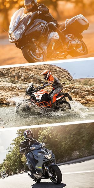 Motorräder und Roller_Quelle BMW Motorrad, KTM Sportmotorcycle, Yamaha